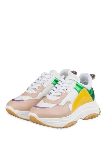 FIAMME Plateau-Sneaker, Farbe: ROSA/ GRÜN/ DUNKELGELB (Bild 1)