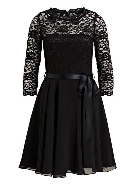 SWING Kleid mit Spitzenbesatz, Farbe: SCHWARZ (Bild 1)