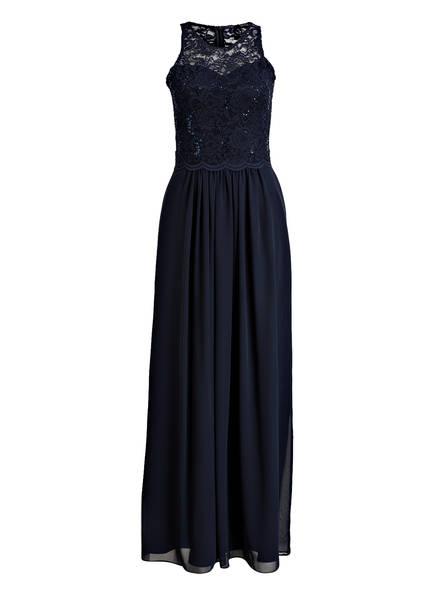 SWING Abendkleid mit Paillettenbesatz, Farbe: MARINE (Bild 1)