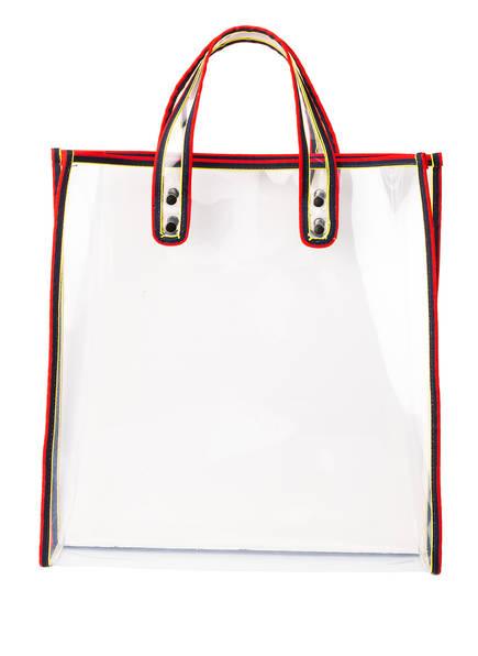 BECK SÖNDERGAARD Shopper , Farbe: TRANSPARENT/ NAVY (Bild 1)