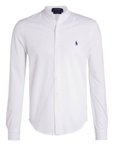 POLO RALPH LAUREN Piqué-Hemd Standard Fit mit Stehkragen, Farbe: WEISS (Bild 1)