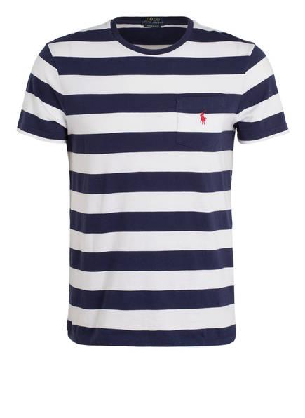 POLO RALPH LAUREN T-Shirt, Farbe: DUNKELBLAU/ WEISS (Bild 1)