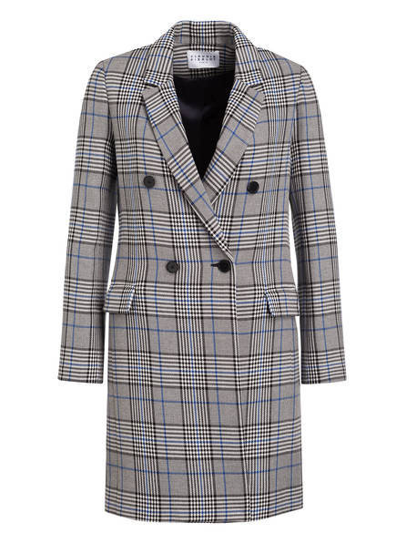 CLAUDIE PIERLOT Mantel GABON, Farbe: GRAU/ BLAU / WEISS KARIERT (Bild 1)