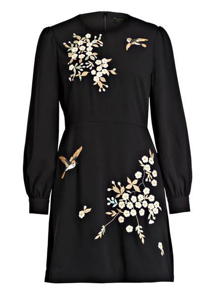 TED BAKER Kleid LILLIEN , Farbe: SCHWARZ/ ROSA/ BRAUN (Bild 1)