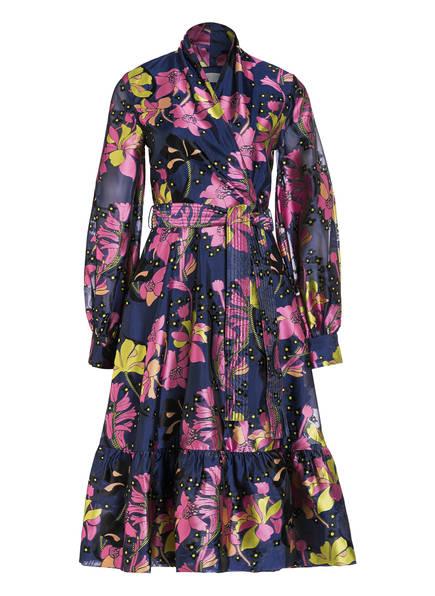 STINE GOYA Kleid NIKI in Wickeloptik, Farbe: DUNKELBLAU/ GELB/ LILA (Bild 1)