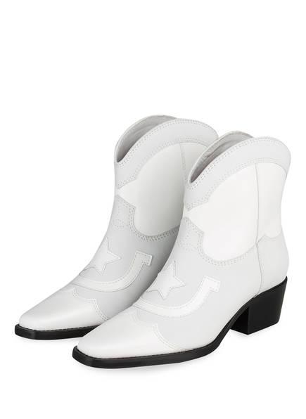 GANNI Cowboy Boots, Farbe: WEISS (Bild 1)