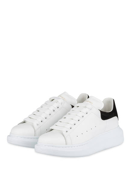 ALEXANDER McQUEEN Plateau-Sneaker, Farbe: WEISS/ SCHWARZ (Bild 1)