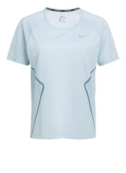 Nike Laufshirt DRY MILER, Farbe: HELLBLAU (Bild 1)