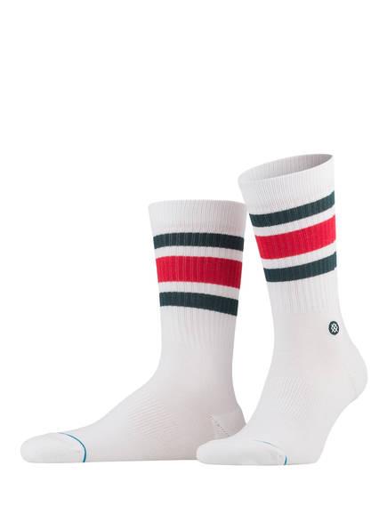 STANCE Socken BOYD 4, Farbe: WEISS/ ROT/ GRÜN (Bild 1)