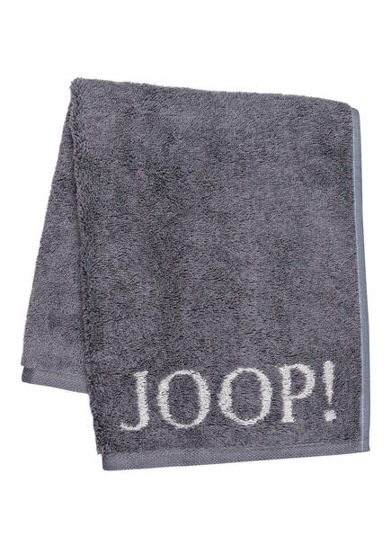 JOOP! Gästetuch CLASSIC DOUBLEFACE , Farbe: DUNKELGRAU (Bild 1)