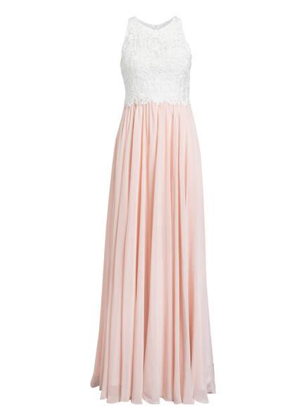 LAONA Abendkleid mit Stickereien, Farbe: WEISS/ ROSA (Bild 1)