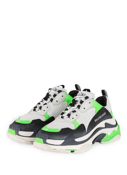 BALENCIAGA Sneaker TRIPLE S, Farbe: DUNKELGRAU/ WEISS (Bild 1)