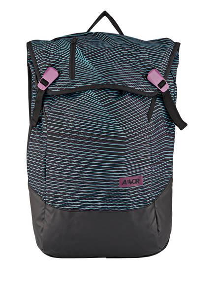 AEVOR Rucksack DAYPACK mit Laptopfach, Farbe: SCHWARZ/ LILA/ HELLBLAU (Bild 1)