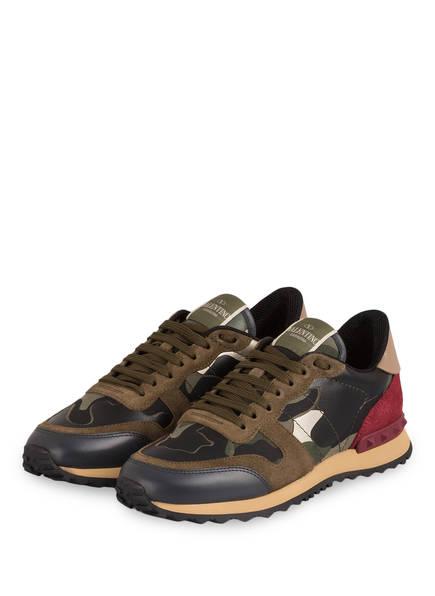 VALENTINO GARAVANI Sneaker CAMOUFLAGE, Farbe: KHAKI/ BORDEAUX (Bild 1)