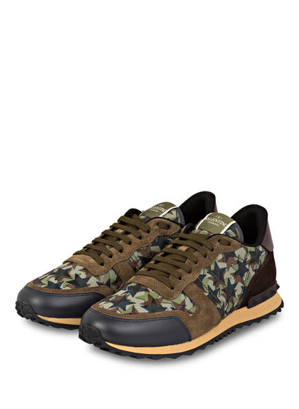 VALENTINO GARAVANI Sneaker ROCKRUNNER CAMOUFLAGE, Farbe: OLIV (Bild 1)