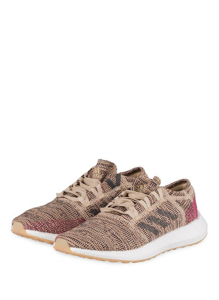 adidas Laufschuhe PUREBOOST GO, Farbe: BEIGE/ ROSE (Bild 1)