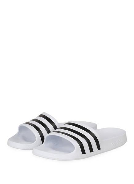 adidas Badeschuhe ADILETTE AQUA , Farbe: WEISS (Bild 1)