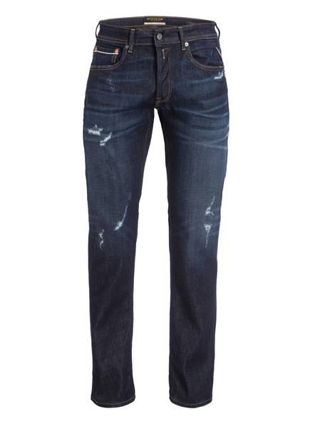 REPLAY Destroyed-Jeans GROVER Regular Fit, Farbe: 007 DARK BLUE (Bild 1)