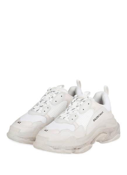 BALENCIAGA Sneaker TRIPLE S, Farbe: WEISS/ CREME (Bild 1)
