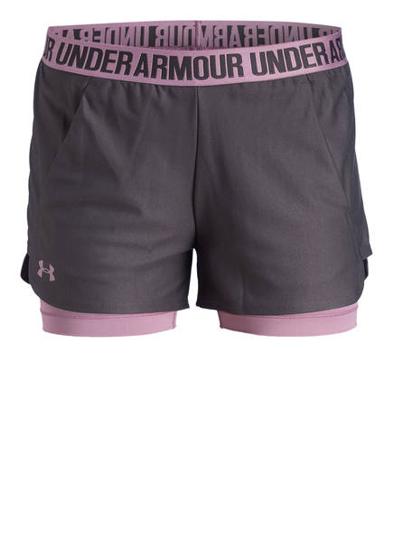 UNDER ARMOUR 2-in-1 Shorts PLAY UP, Farbe: GRAU/ LILA (Bild 1)