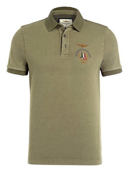 AERONAUTICA MILITARE Jersey-Poloshirt Regular Fit, Farbe: OLIV (Bild 1)