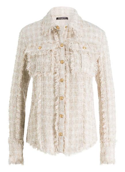 BALMAIN Tweed-Bluse, Farbe: SAND (Bild 1)