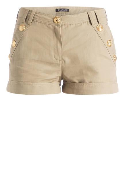 BALMAIN Shorts mit Leinenanteil, Farbe: SAND (Bild 1)
