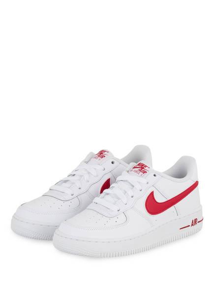 Nike Sneaker AIR FORCE 1, Farbe: 101 white/gym red (Bild 1)