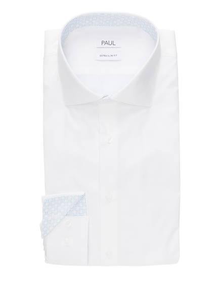 Paul Slim Hellblau Extra Fit Hemd Weiss rRw7rq