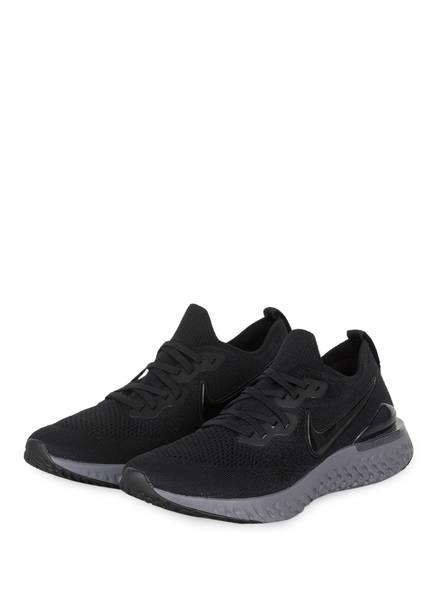 Nike Laufschuhe EPIC REACT FLYKNIT 2, Farbe: SCHWARZ/ GRAU (Bild 1)