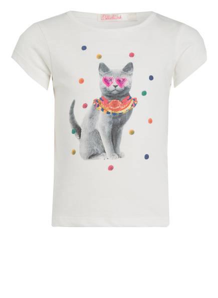 Billieblush T-Shirt mit Paillettenbesatz, Farbe: ECRU (Bild 1)