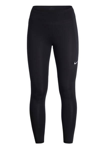 Nike 7/8-Tights mit Mesh-Einsätzen, Farbe: SCHWARZ (Bild 1)