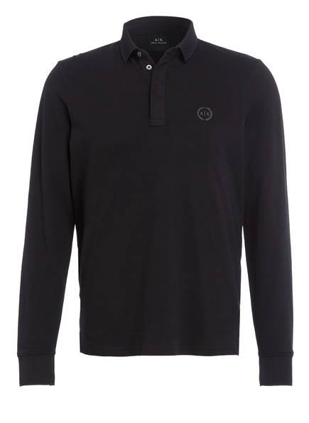 ARMANI EXCHANGE Piqué-Poloshirt, Farbe: SCHWARZ (Bild 1)