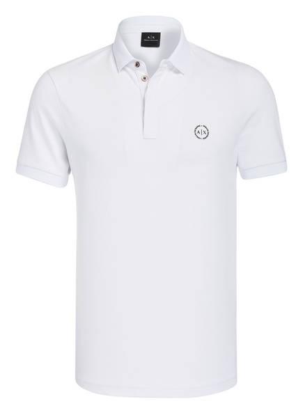 ARMANI EXCHANGE Piqué-Poloshirt, Farbe: WEISS (Bild 1)