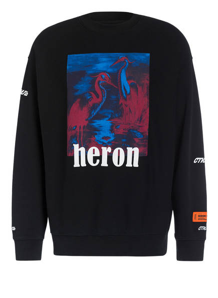 HERON PRESTON Oversized-Sweatshirt, Farbe: SCHWARZ (Bild 1)