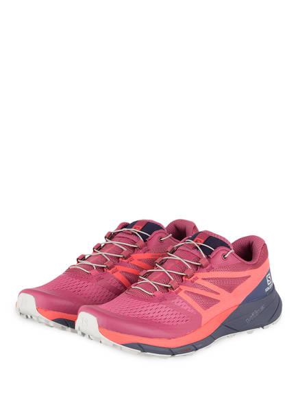 SALOMON Trailrunning-Schuhe SENSE RIDE 2, Farbe: PINK/ BLAU (Bild 1)