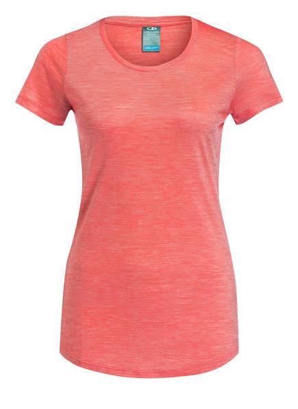 Icebreaker T-Shirt Sphere Mit Merinowolle-Anteil orange