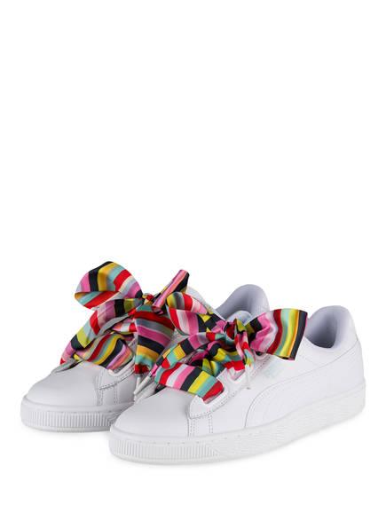 PUMA Sneaker BASKET HEART GENERATION HUSTLE, Farbe: WEISS (Bild 1)
