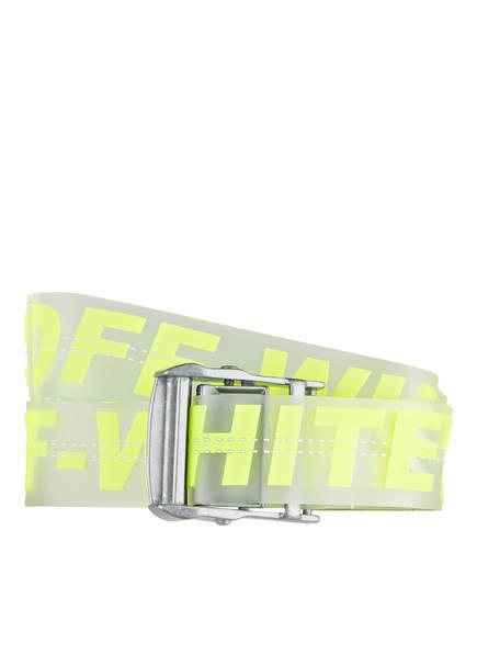 OFF-WHITE Gürtel INDUSTRIAL, Farbe: TRASPARENT/ NEONGELB (Bild 1)