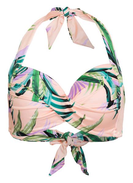 SEAFOLLY Neckholder-Bikini-Top LAS PALMAS , Farbe: ROSE/ GRÜN (Bild 1)