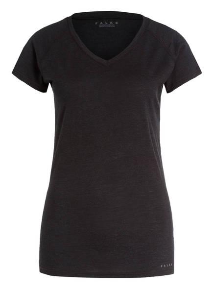 FALKE Funktionswäsche-Shirt aus Merinowolle/Seide-Gemisch, Farbe: ANTHRAZIT MELIERT (Bild 1)