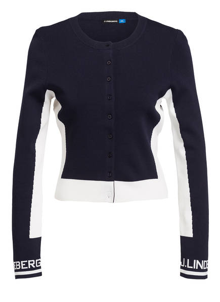 J.LINDEBERG Cardigan MELODY, Farbe: NAVY/ WEISS (Bild 1)