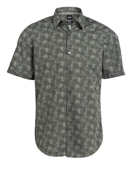 BOSS Halbarm-Hemd LUKA Regular Fit, Farbe: DUNKELGRÜN (Bild 1)