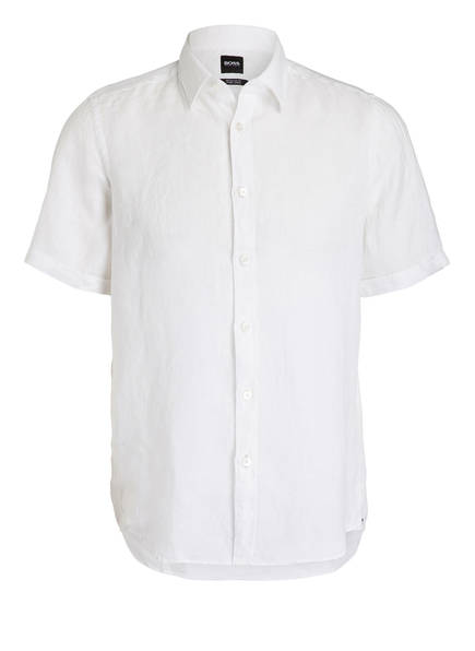 BOSS Halbarm-Hemd LUKA Regular Fit aus Leinen , Farbe: WEISS (Bild 1)