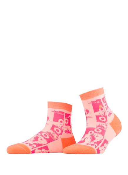 STANCE Socken SUN FLEUR LOWRIDER, Farbe: PINK/ ORANGE (Bild 1)