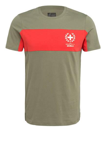 strellson T-Shirt CEDAR, Farbe: OLIV/ ROT (Bild 1)