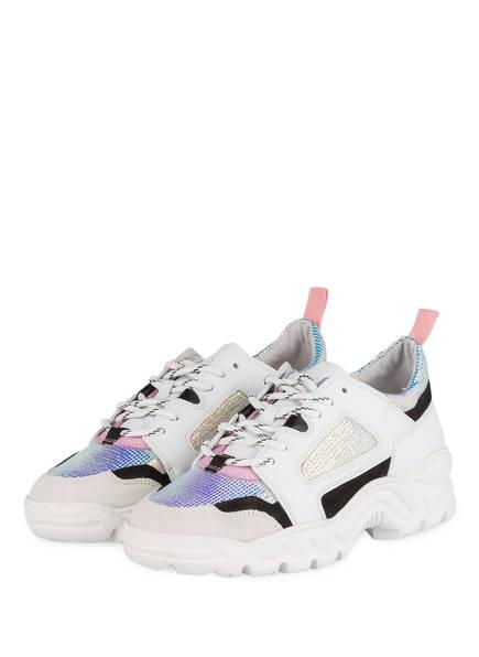 D.A.T.E. Plateau-Sneaker PROZAC COLORED, Farbe: WEISS/ SILBER/ SCHWARZ (Bild 1)