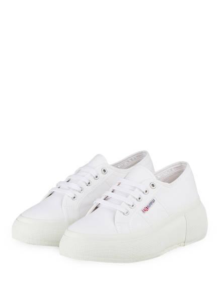 SUPERGA Plateau-Sneaker 2287 COTW, Farbe: WEISS (Bild 1)