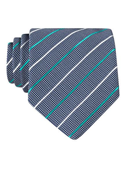 HUGO Krawatte, Farbe: DUNKELBLAU/ WEISS/ MINT (Bild 1)