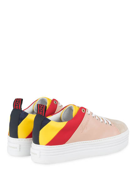 Plateau Rot 3 Gelb Bogner Orlando sneaker Rosé 8pdnwqT4